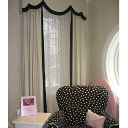 Cornices & Valences - Custom Cornice, Drapes, and Sheers by Basia Frossard Projects.