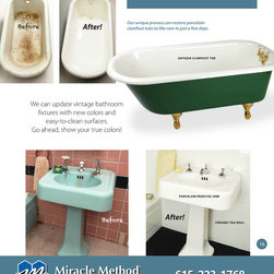 Bathroom Remodeling - Before and after - miracle method