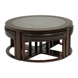 Marion Round Cocktail Stools - Living Spaces