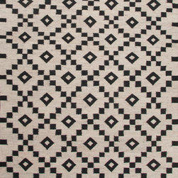 Jaipur Rugs - Flat-Weave Durable Wool Ivory/Black Area Rug (8 x 10) - Constructed with un-dyed wool with a flat-weave construction, using traditional Scandinavian motifs this rug combines a modern feel with age old tradition.