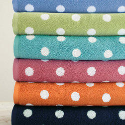 Dot to Dot Towels - There's nothing like drying off after a shower with a super soft towel. And when they are as vibrant as these, how could you resist?
