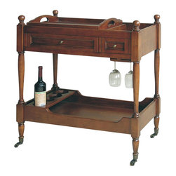 Wayborn - Wayborn Serving Cart in Brown - Wayborn - Bar Carts - 9103