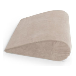 OneUp Innovations, Inc - Avana Uno Pillow, Velvish Buckwheat - The one and only perfect pillow.  When it comes to versatility, the contoured, angled Avana Uno is the only pillow you'll ever need.  The plush erect pile microfibers massage the skin to encourage joint motion improved blood flow and circulation.  Machine washable and available in designer colors.  Constructed with the highest quality 5-pound memory foam.