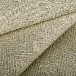 Garden Herringbone Indoor Outdoor Fabric in Oyster - Garden Herringbone Indoor Outdoor Fabric in Oyster is a cream, UV resistant upholstery fabric perfect for the patio or high traffic areas indoors. This classic weave has a great hand and is available in an array of beautiful neutrals that will make the perfect base for your interior or exterior design. Made in the USA with 100% High UV Polyester, this fabric has a width of 54″ and a horizontal repeat of 1 1/2″.