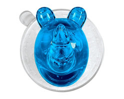 Suction Hooks - Rhino Ricco, Turquoise - In the wild with this one: This friendly and functional, German–made, acrylic rhino hook makes no claims to heal ailments, but can certainly limit the bathroom chaos and soggy towel syndrome created by the kiddos.
