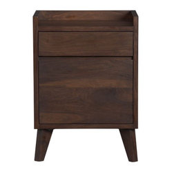 Strut Filing Cabinet - Beautifully handcrafted of solid shesham wood with a warm walnut stain ...