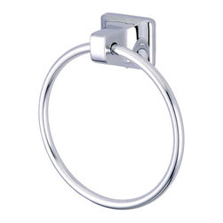 Kingston Brass - 6in. Towel Ring - Kingston Brass' bathroom accessories are built for long-lasting durability and reliability. They are designed so you can easily coordinate matching pieces. Each piece is part of a collection that includes everything you need to complete your bathroom decor. All mounting hardware is included and installation is easy.