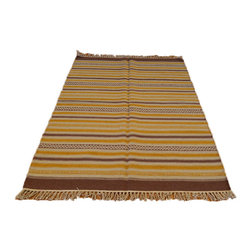 Flat Weave Hand Woven 4'X6' 100% Wool Reversible Durie Kilim Area Rug SH6982 - Soumaks & Kilims are prominent Flat Woven Rugs.  Flat Woven Rugs are made by weaving wool onto a foundation of cotton warps on the loom.  The unique trait about these thin rugs is that they're reversible.  Pillows and Blankets can be made from Soumas & Kilims.