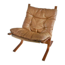 Scandinavian Style Leather Slingback Chair - $1,580 Est. Retail - $790 on Chairi -
