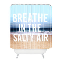DENY Designs - Leah Flores Breathe Shower Curtain - Who says bathrooms can't be fun? To get the most bang for your buck, start with an artistic, inventive shower curtain. We've got endless options that will really make your bathroom pop. Heck, your guests may start spending a little extra time in there because of it!