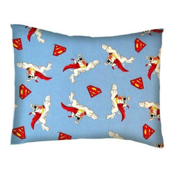 SheetWorld - SheetWorld Twin Pillow Case - Percale Pillow Case - Krypto The Superdog - Twin pillow case. Made of an all cotton woven fabric. Side Opening. Features the one and only Krypto The Superdog!