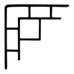 Iron Artistica - Iron Artistica Pair of Arts & Crafts Brackets - Totally unique to the market is our brand-new Arts & Crafts Bracket (priced and sold here as a pair). Hand-forged to perfection and reflecting the rich design heritage of the Mission movement, these brackets are perfect for holding granite or other stone counter tops or creating wall shelves. Its also great as an architectural accent. This is a great price for solid iron wall brackets, and they are only available only through Carolina Rustica. Please note that all brackets are pre-drilled. DOES NOT include hanging hardware. Click here for information on choosing and installing your Iron Brackets.Additional Discounts may not apply to this item.
