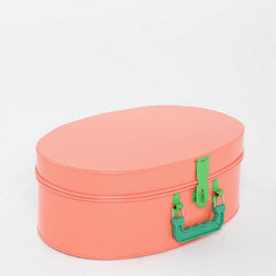 Oval Trunk - Seriously, how adorable would this vintage-inspired suitcase be as a kids' toy bin? Yeah, I thought so too.