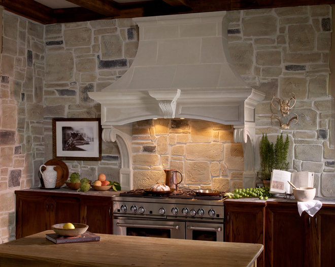 Traditional Range Hoods And Vents by Old World Stoneworks