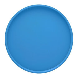 Kraftware - Serving Tray in Blue - Made in USA. 14 in. Dia. (1.5 lbs.)Our fun colors collection features the hottest colors for the season, to provide you with great entertaining items, with up to the minute styling. Great for indoor and outdoor entertaining.