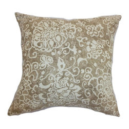 Pillow Collection - The Pillow Collection Jaffna Floral Pillow - P18-D-KEROUAC-BLUE-C95L5 - Shop for Pillows from Hayneedle.com! Almost batik-like in quality The Pillow Collection Jaffna Floral Pillow has an elegant yet understated beauty. Made of 95% cotton and 5% linen this lovely square pillow features a plush 95/5 feather/down insert for an ultra-soft feel. The mottled brown background blooms with delicate white blossoms weaving their way over the surface and through your room's style.About The Pillow CollectionIdentical twin brothers Adam and Kyle started The Pillow Collection with a simple objective. They wanted to create an extensive selection of beautiful and affordable throw pillows. Their father is a renowned interior designer and they developed a deep appreciation of style from him. They hand select all fabrics to find the perfect cottons linens damasks and silks in a variety of colors patterns and designs. Standard features include hidden full-length zippers and luxurious high polyester fiber or down blended inserts. At The Pillow Collection they know that a throw pillow makes a room.