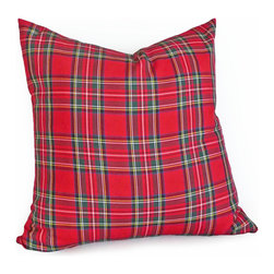 PillowThrowDecor on Etsy - Red Tartan Plaid Pillow - An eclectic arrangement of plaids is this season`s favorite country lodge styling.  Or, add some punk plaid to the mix for a fun edgy look for a teen's bedroom or games room.  Mix and match with more NEW plaids in Fall Winter 2013 collection