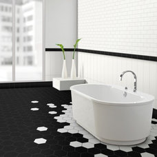 Modern Bathroom by Metro Tiles Geebung