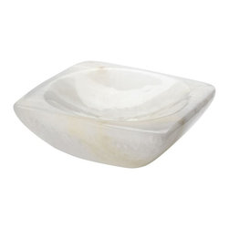 Lazy Susan - Lazy Susan Glacier Selenite Tray - Small X-300129 - Made from selenite