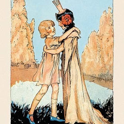 """Buyenlarge.com, Inc. - Betsy and Ozma- Fine Art Giclee Print 24"""" x 36"""" - John Rea Neill (1877 - 1943) was a magazine and children's book illustrator primarily known for illustrating more than forty stories set in the Land of Oz, including L. Frank Baum's, Ruth Plumly Thompson's, and three of his own. His pen-and-ink drawings have become identified almost exclusively with the Oz series."""