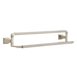"""Delta - Delta 75125-SS Dryden Double Towel Bar - Delta 75125-SS Dryden Double Towel Bar. Dryden 24"""" Stainless Steel Double Towel Bar. If you are looking to eliminate the clutter from your bathroom, and add something clean, with geometric lines in your home, then this Art Deco wall mounted Double Towel Bar is perfect. Included is the hardware needed to mount it, and a Lifetime finish warranty"""