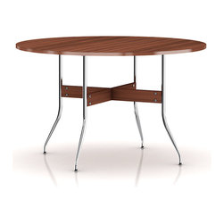 Herman Miller - Herman Miller Nelson Swag Leg Round Dining Table - An icon of midcentury modern design, George Nelson created this table in 1958. Its enduring design has the scale and functionality that make it a welcome addition in today's contemporary home. Pull up one of Nelson's Swag Leg Chairs to complete the look.