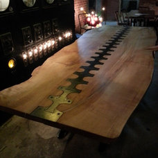 Industrial Dining Tables by Pekota Design