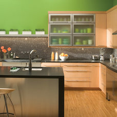Contemporary Kitchen Cabinetry by Designs Living Fine Cabinetry