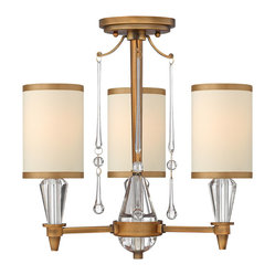 Fredrick Ramond Bentley 3-Light Semi Foyer