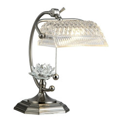 Dale Tiffany - New Dale Tiffany Lamp Nickel Crystal Pull - Product Details