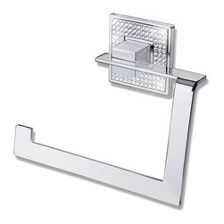 ZEN DESIGN - Diamond Towel Ring  Polished Chrome - The Glamour Of Swarovski Crystals In Contemporary Forms