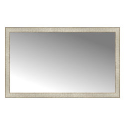 """Posters 2 Prints, LLC - 46"""" x 28"""" Libretto Antique Silver Custom Framed Mirror - 46"""" x 28"""" Custom Framed Mirror made by Posters 2 Prints. Standard glass with unrivaled selection of crafted mirror frames.  Protected with category II safety backing to keep glass fragments together should the mirror be accidentally broken.  Safe arrival guaranteed.  Made in the United States of America"""