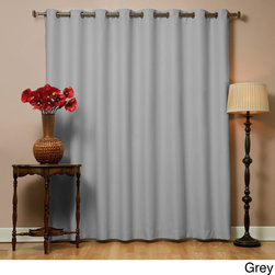 None - Wide Width Thermal 80 x 95-Inch Blackout Curtain Panel - This thermal blackout curtain features innovative triple-weaved construction. This curtain blocks out light and noise while cutting back on window-related energy loss.