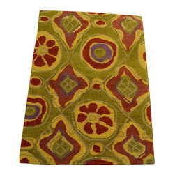 1800-Get-A-Rug - Colorful Modern Nepali Hand Knotted Rug Wool and Silk Sh12277 - About Modern & Contemporary