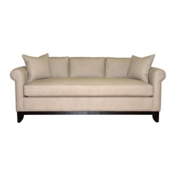 RAL Tuxedo Sofa Bed - A roll-arm sofa is a classic silhouette; it's reminiscent of a Chesterfield but without all of the tufting.