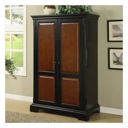 Riverside Furniture - Riverside Furniture Bridgeport Computer Armoire in Antique Black - Riverside Furniture - Computer Armoires - 7185 - A celebration of the classic office style loaded with function for today's home office. Use each piece alone or as a part of a coordinated home office collection.
