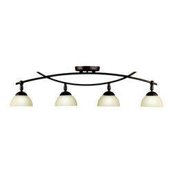 Kichler Lighting - Kichler Lighting 42164OZ Bellamy 4 Light Rail Lighting in Olde Bronze - Fixed Rail 4Lt Halogen