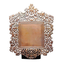 Amoretti Brothers - Amoretti Brothers Sueño Frame - Adorn your space with a handmade object and support and encourage artistic tradition at the same time. What better way to do so than with this exquisite, intricate, unique copper frame?