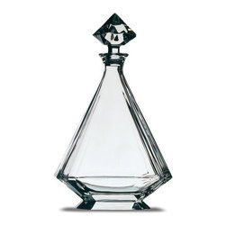 """Peugeot - Peugeot Angulo Decanter - Crystal - 12.75""""/26 oz. - Peugeot Angulo Decanter - Crystal - 12.75""""/26 oz. - PW230203    Elegance at its best. Made of hand-blown lead crystal, this decanter is used to decant young red wines with developing aromas. The decanter is designed to allow for greater exposure of air, thus helping an immature wine to 'breathe' and release more flavour and aroma than simply letting the wine rest in the bottle. Capacity is suitable for a standard 750ml bottle of wine. Gift boxed."""