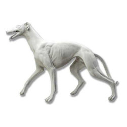 Orlandi Statuary - Graceful Greyhound Garden Statue Multicolor - FDSG222GREYHOUND - Shop for Statues and Sculptures from Hayneedle.com! The streamlined curves of this Graceful Greyhound Garden Statue will perfectly complement your gardens beauty. The greyhounds slender body and muscled legs are elegantly displayed in this beautiful sculpture which is carefully captured in high quality detail. The intricate carving of this statue is preserved in the fiberglass resin cast. Durable enough for outdoor use this statue features a hand-applied finish. The finish is non-peeling and will weather naturally to make the Greyhound an appealing part of your outdoor decor for years to come.About Orlandi StatuaryBorn in 1911 when Egisto Orlandi traveled from Lucca Italy to Chicago Illinois Orlandi Statuary quickly set the standard for excellence in their industry. Egisto took great pride in his craft and reputation and which is why artists interior designers and museums relied upon the careful details and impeccable quality he demanded. Over the years they've evolved into a company supplying more than statuary. Orlandi's many collections today include fiber stone for the garden religious statuary fountains columns and pedestals. Their factory and showroom are still proudly located in Chicago where after 100 years they remain an industry icon.
