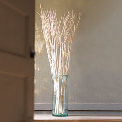 White As Snow Willow Branches - Set of 3 - Branch out this harvest season with bleached willow branches. Display the set of 3 in a clear vase to draw the eyes upwards and throw an element of the natural world indoors. They add a cooling touch to any home and look great in the entryway or in transitional spaces.
