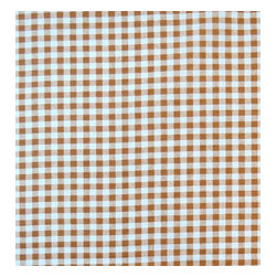 """SheetWorld - SheetWorld Fitted Crib / Toddler Sheet - Beige Gingham Check - Made in USA - This beautiful 100% cotton """"woven"""" crib / toddler sheet features a 1/4"""" beige and white gingham check print. Our sheets are made of the highest quality fabric that's measured at a 280 tc. That means these sheets are soft and durable. Sheets are made with deep pockets and are elasticized around the entire edge which prevents it from slipping off the mattress, thereby keeping your baby safe. These sheets are so durable that they will last all through your baby's growing years. We're called SheetWorld because we produce the highest grade sheets on the market."""