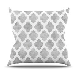"Kess InHouse - Amanda Lane ""Gray Moroccan"" Grey White Throw Pillow (26"" x 26"") - Rest among the art you love. Transform your hang out room into a hip gallery, that's also comfortable. With this pillow you can create an environment that reflects your unique style. It's amazing what a throw pillow can do to complete a room. (Kess InHouse is not responsible for pillow fighting that may occur as the result of creative stimulation)."