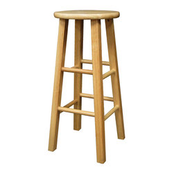 "Winsome Wood - Winsome Wood Set of 2 - Square Leg 29 Inch Stool in Beech - The set comes with 2 counter stools, essential and stylish black 29"" Assembled Stool with square legs. Perfect for extra seating. Overall stool size is 13.4""W x 13.4""D x 29.1""H. Solid wood in Clear Natural Finish Barstool (2)"