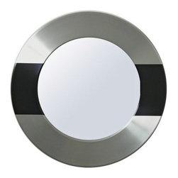 Babette Holland Uptown Modern Aluminum Wall Mirror -