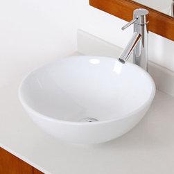 Elite High Temperature Grade A Ceramic Bathroom Sink with Unique Round Design an -