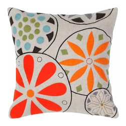 Rizzy Home - Beige and Orange Decorative Accent Pillows (Set of 2) - T04147 - Set of 2 Pillows.