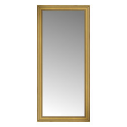 """Posters 2 Prints, LLC - 35"""" x 75"""" Arqadia Gold Traditional Custom Framed Mirror - 35"""" x 75"""" Custom Framed Mirror made by Posters 2 Prints. Standard glass with unrivaled selection of crafted mirror frames.  Protected with category II safety backing to keep glass fragments together should the mirror be accidentally broken.  Safe arrival guaranteed.  Made in the United States of America"""