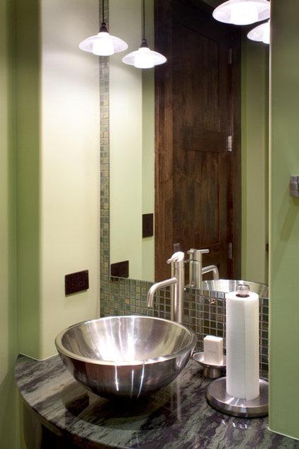 Contemporary Powder Room by Locati Architects