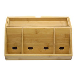 Lipper International 812 Bamboo Charging Station - I love the wood and the clean lines of this charging station.